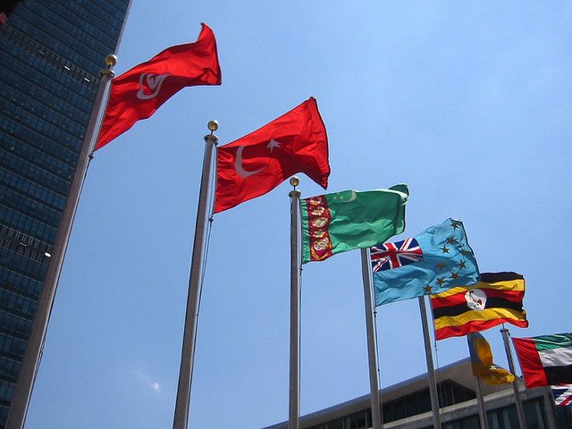 Flags at the United Nations. Photo by WorldIslandInfo.com/flickr.